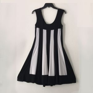 NWT Connected Apparel Black/White Stripe Dress!